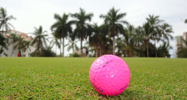 A Golf Ball On A Field